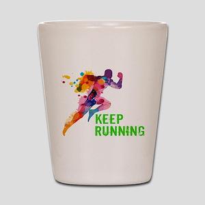 Keep Running Shot Glass