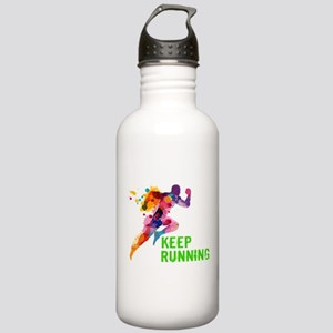 Keep Running Sports Water Bottle