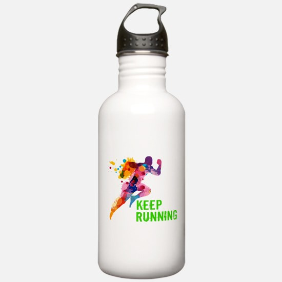 Keep Running Sports Water Bottle