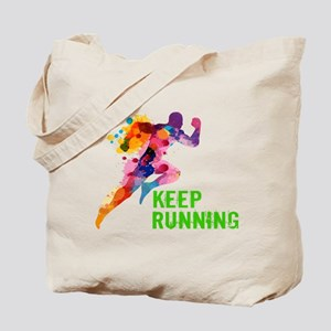 Keep Running Tote Bag