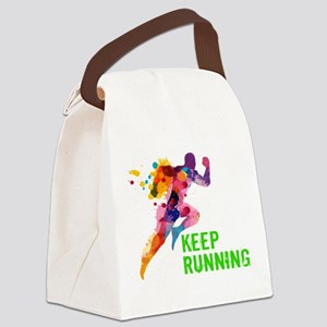 Keep Running Canvas Lunch Bag