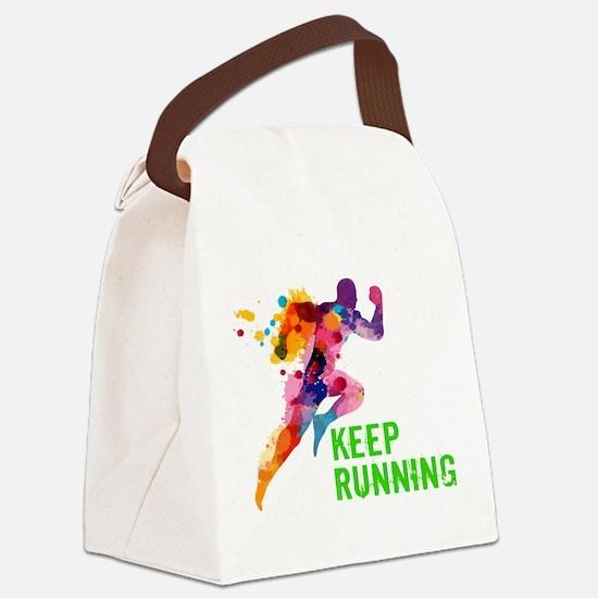 Keep Running Canvas Lunch Bag