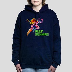 Keep Running Women's Hooded Sweatshirt