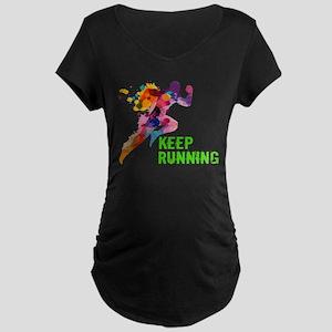 Keep Running Maternity T-Shirt