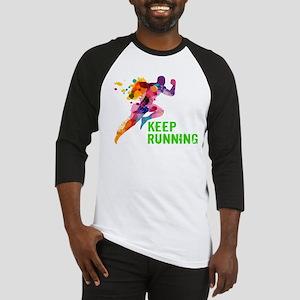 Keep Running Baseball Jersey