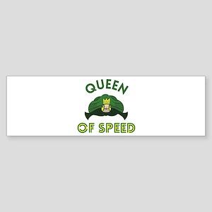 Queen Of Speed Bumper Sticker