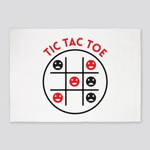 Tic Tac Toe 5'x7'Area Rug