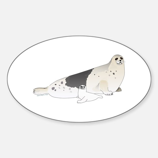 Mom and Baby Harp Seals Decal