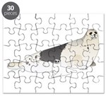 Mom and Baby Harp Seals Puzzle