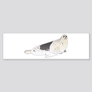 Mom and Baby Harp Seals Bumper Sticker