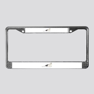 Mom and Baby Harp Seals License Plate Frame
