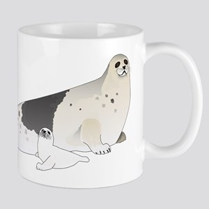 Mom and Baby Harp Seals Mugs