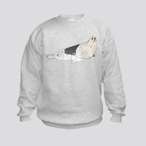 Mom and Baby Harp Seals Sweatshirt
