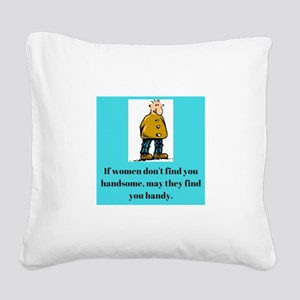 Deb's Life Is Comical Square Canvas Pillow