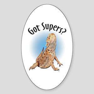 Bearded Dragon Got Supers? Oval Sticker