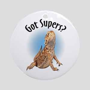 Bearded Dragon Got Supers? Ornament (Round)