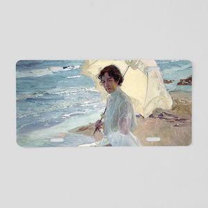 Clotilde on the Beach - Joa Aluminum License Plate