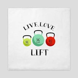 Live Love Lift Queen Duvet