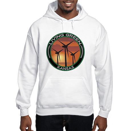 Living Green Kansas Wind Power Hooded Sweatshirt