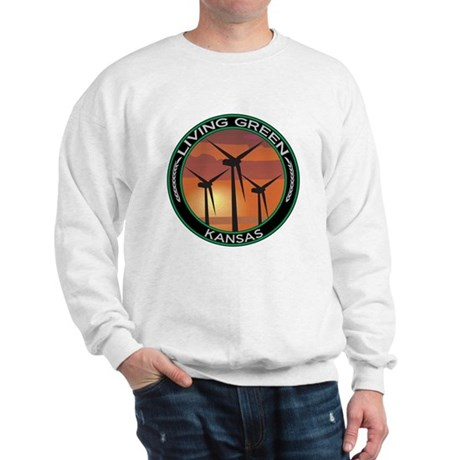Living Green Kansas Wind Power Sweatshirt