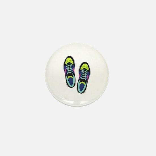 Running Shoes Mini Button