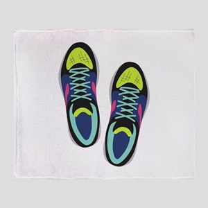 Running Shoes Throw Blanket