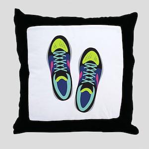 Running Shoes Throw Pillow