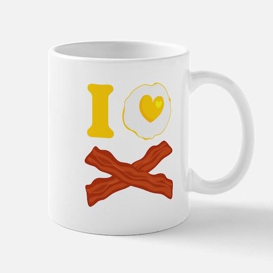 I Love Bacon And Eggs Mug Mugs