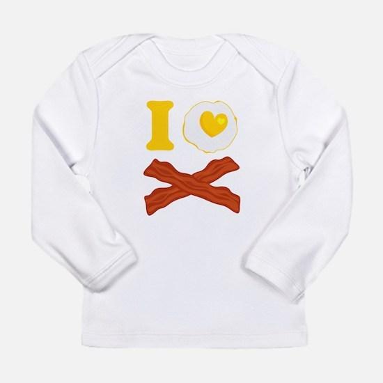 I Love Bacon And Eggs Long Sleeve Infant T-Shirt