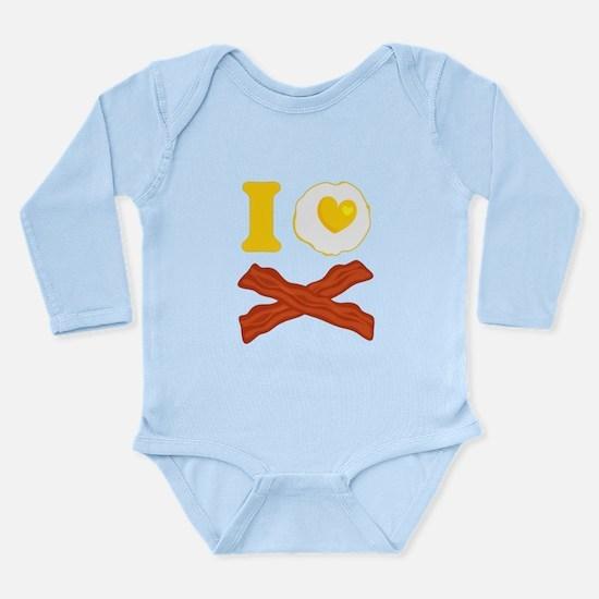 I Love Bacon And Eggs Long Sleeve Infant Bodysuit