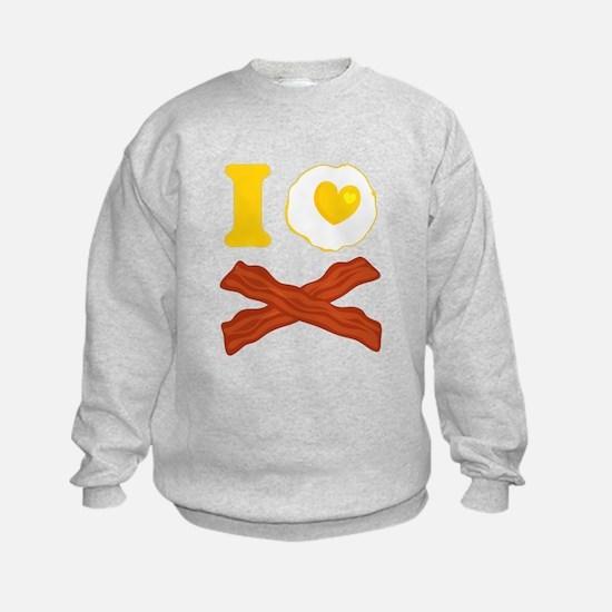 I Love Bacon And Eggs Sweatshirt