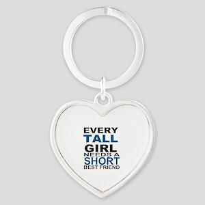 EVERY TALL GIRLS NEEDS A SHORT BEST Heart Keychain