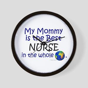 Best Nurse In The World (Mommy) Wall Clock
