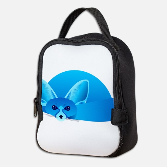 Cute Fennec Neoprene Lunch Bag