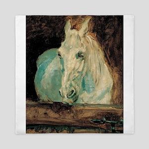 The White Horse Gazelle - Henri Toulou Queen Duvet