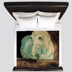The White Horse Gazelle - Henri Toulous King Duvet