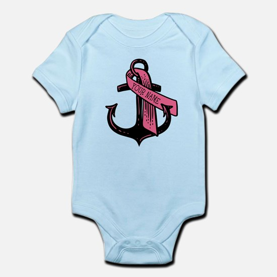 PERSONALIZED Pink Ribbon Anchor Body Suit