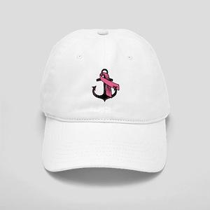 Pink Ribbon Anchor Baseball Cap