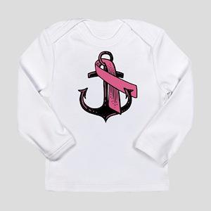 Pink Ribbon Anchor Long Sleeve T-Shirt