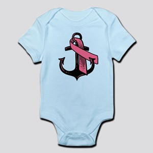 Pink Ribbon Anchor Body Suit