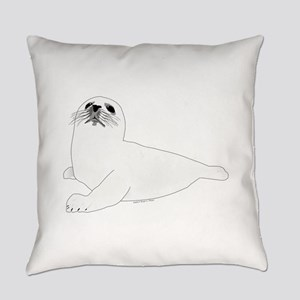 Baby Harp Seal Everyday Pillow