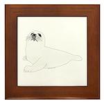 Baby Harp Seal Framed Tile