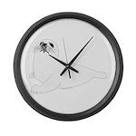 Baby Harp Seal Large Wall Clock