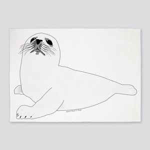 Baby Harp Seal 5'x7'Area Rug