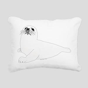 Baby Harp Seal Rectangular Canvas Pillow