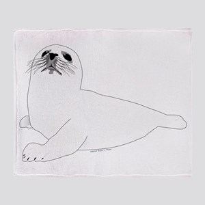 Baby Harp Seal Throw Blanket