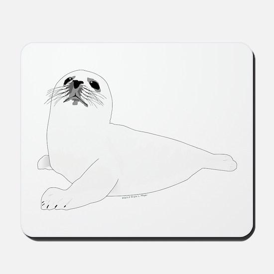 Baby Harp Seal Mousepad