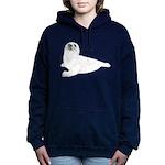 Baby Harp Seal Women's Hooded Sweatshirt