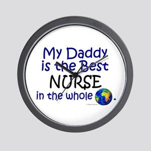 Best Nurse In The World (Daddy) Wall Clock