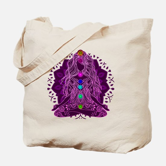Yoga Girl Sitting Yoga Pose Tote Bag